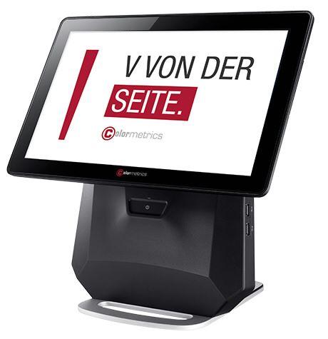 Touchkasse Colormetrics V1200 vertikales All-in-one Kassensystem mit diversen Schnittstellen