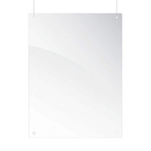 Schutzscheibe Plexiglas Deckenmontage (B) von 800 bis 1000 mm x (H)650 mm